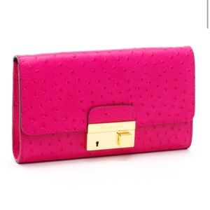 """Michael Kors """"Ostrich Embossed"""" Gia clutch"""
